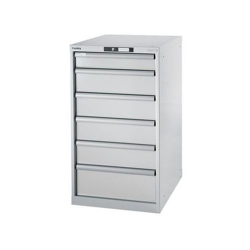 Stół warsztatowy w systemie modułowym, szafka dolna,wys. 1000 mm, 6 szuflad marki Lista