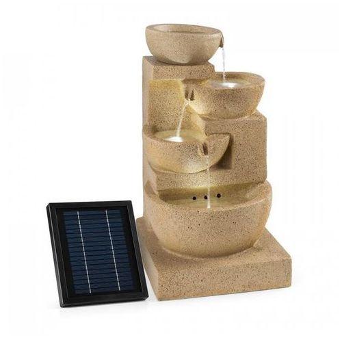 Blumfeldt korinth ogrodowa fontanna ozdobna 3w panel solarny led imitacja piasko