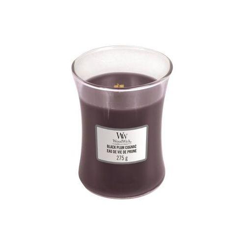 WoodWick - Świeca średnia Black Plum Cognac 100h, 92023E