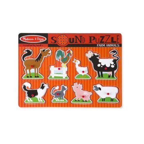 Melissa & doug Puzzle dźwiękowe zwierzęta z farmy 12054
