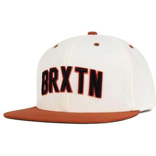Brixton Czapka z daszkiem  - hamilton snap back white/burnt orange (0232) rozmiar: os