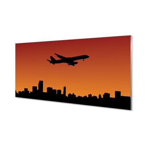 Obrazy akrylowe samolot zachód słońca i niebo marki Tulup.pl