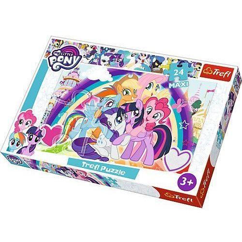 puzzle 24 elementy maxi my little pony, szczęśliwe kucyki marki Trefl