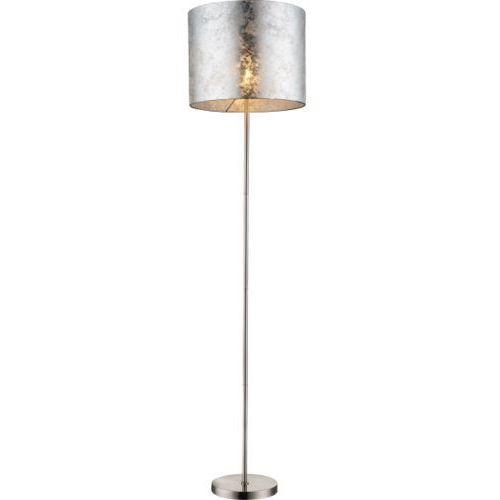 LAMPA podłogowa AMY 15188S Globo abażurowa OPRAWA stojąca srebrna, 15188S