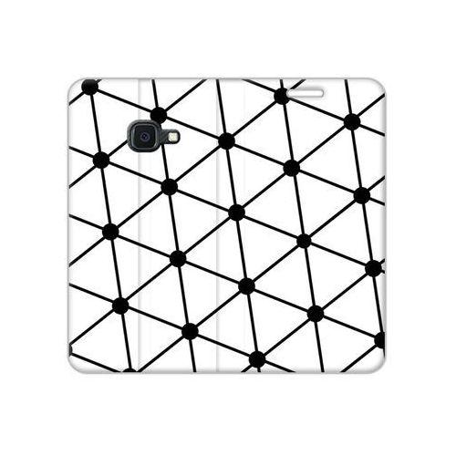 Etuo flex book fantastic Samsung galaxy xcover 4s - etui na telefon flex book fantastic - trójkątna siatka