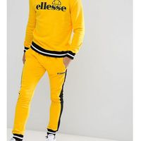ellesse Joggers With Contrast Panel In Yellow - Yellow, kolor żółty