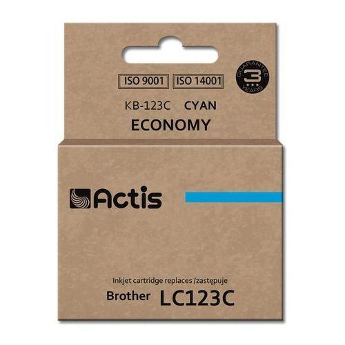Actis Tusz kb-123c cyan do drukarek brother (zamiennik brother lc123c) [10ml] - z chipem