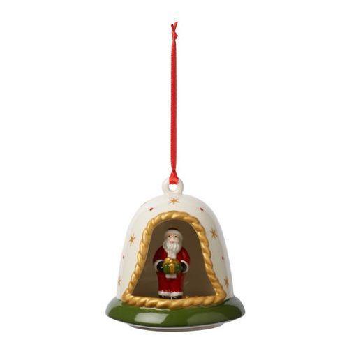 Villeroy & boch - my christmas tree zawieszka dzwoneczek z mikołajem