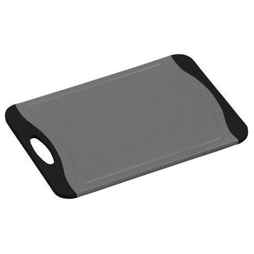 Deska do krojenia w kolorze szarym i czarnym z powłoką antybakteryjną, plastikowa deska, deska kuchenna, akcesoria kuchenne, Kesper (4000270308758)