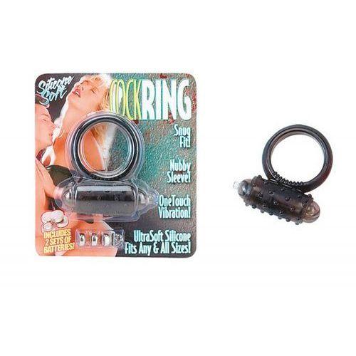 Wibrujący żelowy pierścień erekcji z wypustkami Classic UltraSoft 500027