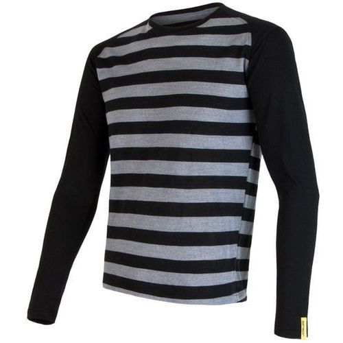 Sensor bluzka merino wool active m black stripes xxl (8592837030807)