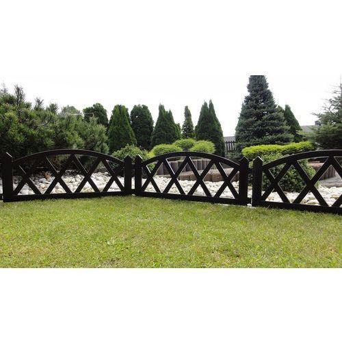 Płotek ogrodowy, 2,3 m brązowy, marki 4home