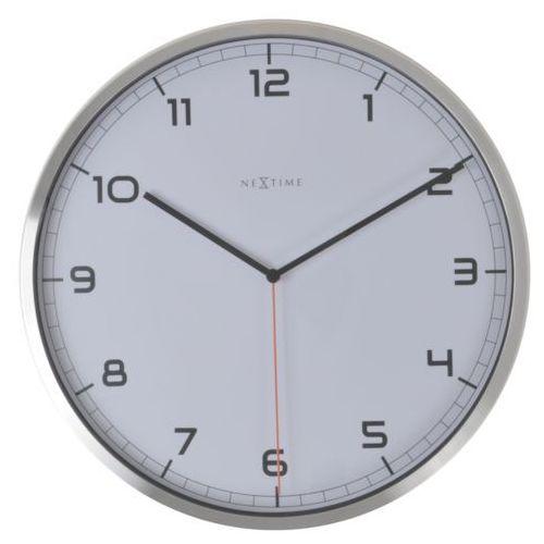 Nextime:: Zegar Ścienny Company biały Ø35cm - biały, kolor biały