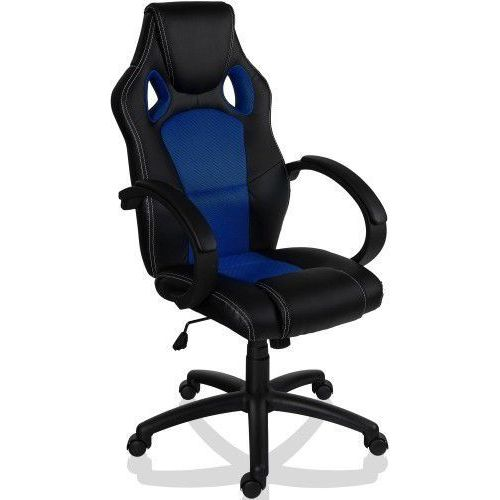 Makstor.pl Sportowy czarno niebieski fotel obrotowy biurowy - czarno - niebieski (40040312)