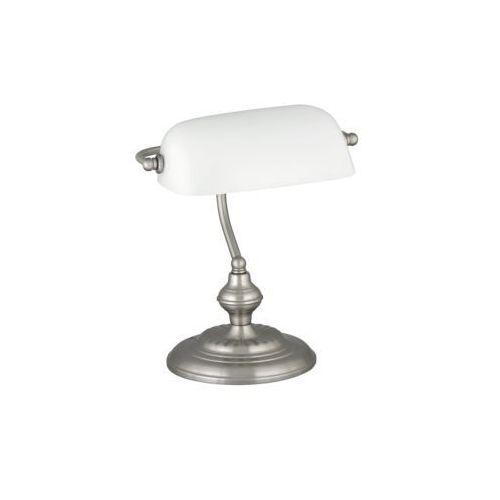 Rabalux Lampa lampka oprawa stołowa rabaluc bank 1x60w e27 sat.chrom/biały 4037 (5998250340371)