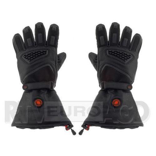 GLOVII Ogrzewane rękawice motocyklowe L (czarny), GS1L