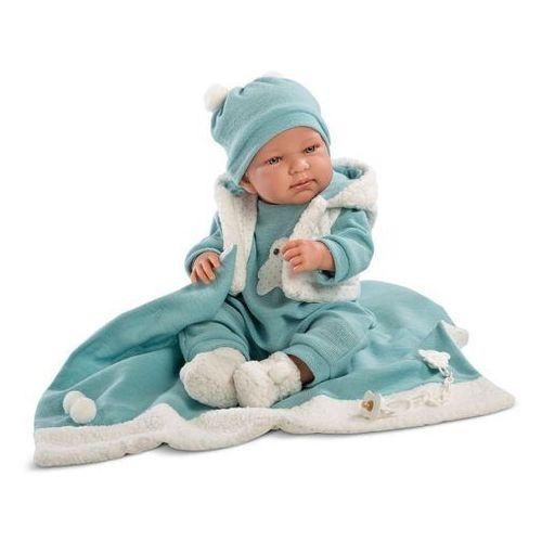 Llorens Lalka Tino w niebieskim kostiumie 43 cm (8426265843091)