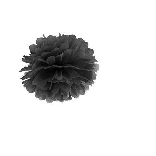 Twojestroje.pl Pompon bibułowy czarny 25cm 1szt (5901157471659)