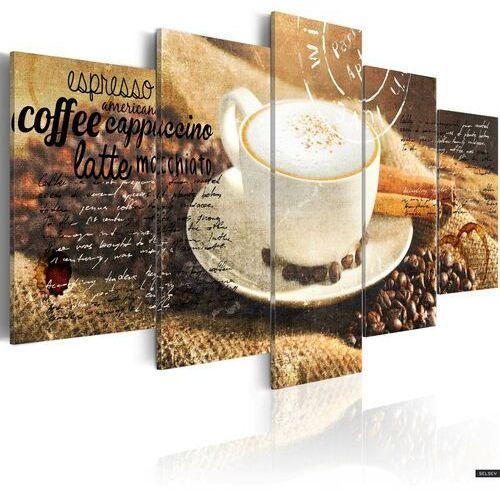 SELSEY Obraz - Coffe, Espresso, Cappuccino, Latte machiato... 100x50 cm (5902409976120)