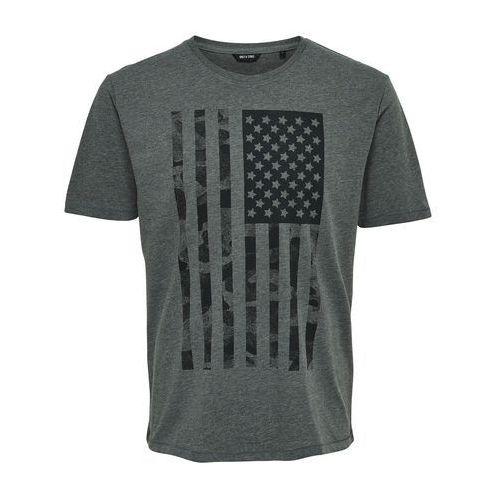 Only & sons T-shirt z okrągłym dekoltem i krótkim rękawem