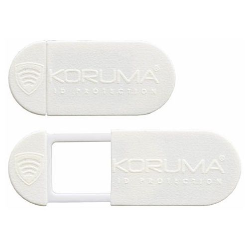 Koruma® Zaślepka na kamerę internetową w laptopie i tablecie biała czarna - biały