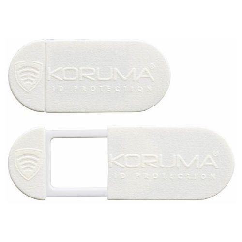 Zaślepka na kamerę internetową w laptopie i tablecie biała czarna - biały marki Koruma®
