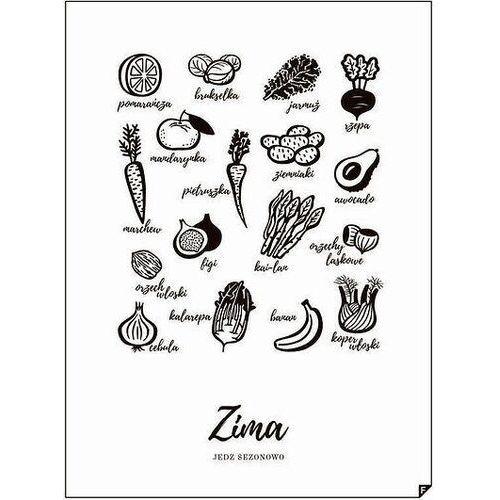 Plakat Zima - Jedz sezonowo 30 x 40 cm