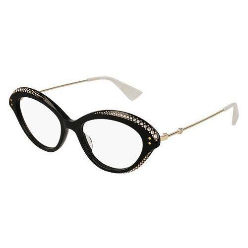 Okulary korekcyjne gg 0215o 001 marki Gucci