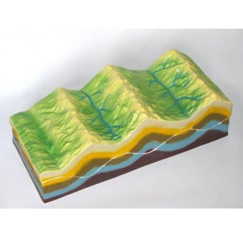 Model pofałdowania terenu i zmian geologicznych wyprodukowany przez Eduko