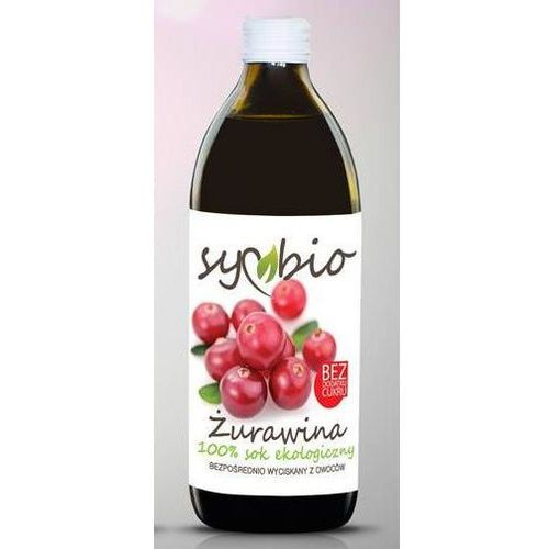 105symbio Sok żurawina 100% bez dodatku cukru bio 500ml - symbio
