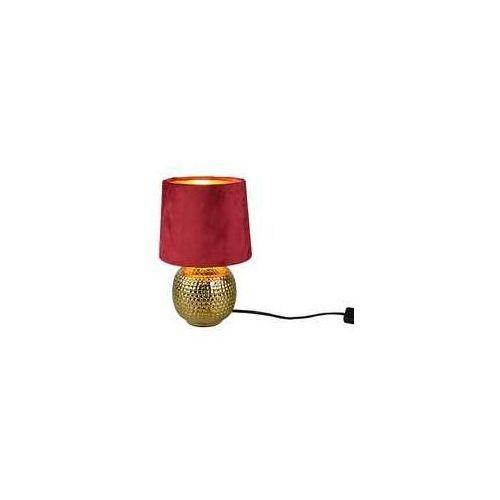 Trio RL Sophia R50821010 lampa stołowa lampka 1x40W E14 złota/czerwona (4017807477870)