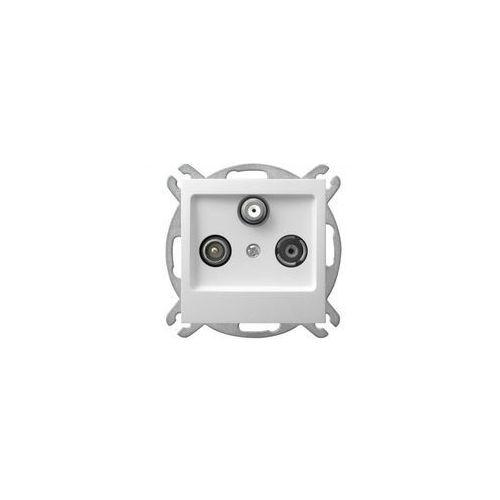 Ospel Impresja gniazdo antenowe rtv-sat końcowe białe gpa-ys/m/00 (5907577437428)