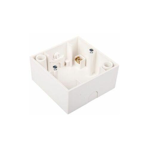 Puszka 1 pojedyncza natynkowa 33,5mm biały połysk 5310419909 marki Hager