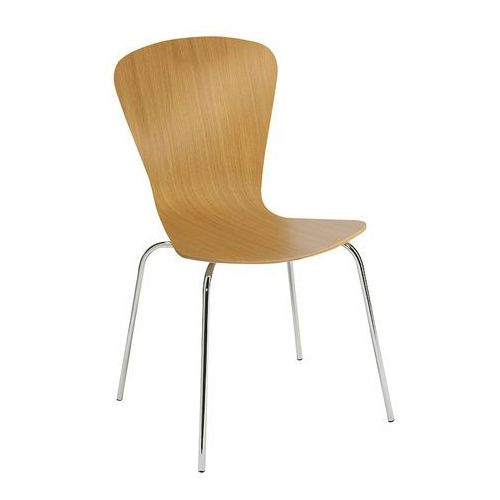Krzesło do stołówki milla, sztaplowane, dąb marki Aj produkty