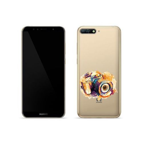 Huawei Y6 (2018) - etui na telefon Crystal Design - Kolorowy aparat