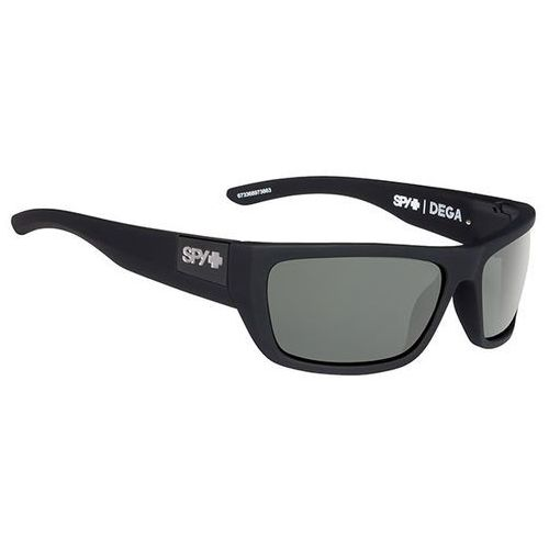 Spy Okulary słoneczne dega polarized soft matte black - happy gray green polar