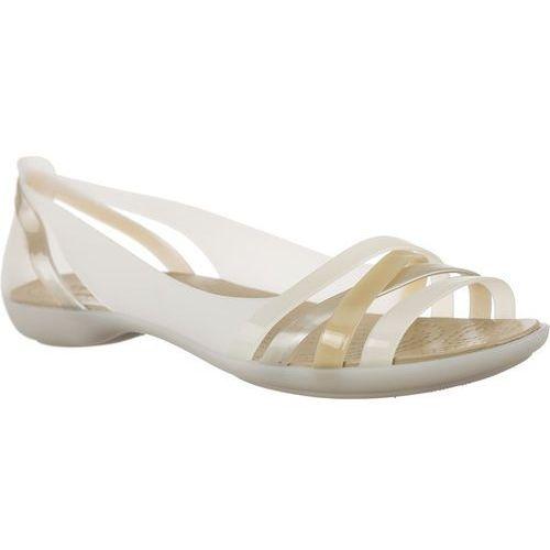 Crocs Sandały isabella huarche 2 flat w oyster/cobblestone oyster/cobblestone