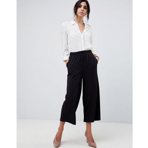 ASOS DESIGN Cropped Straight Leg Trousers In Jersey Crepe - Black