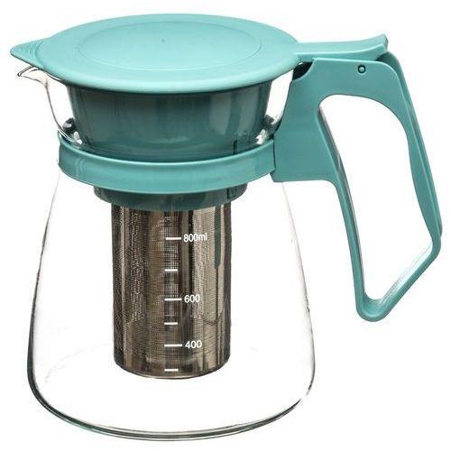 Niebieski dzban z zaparzaczem, czajnik do herbaty, imbryk do herbaty, czajniczek do herbaty, dzbanek do herbaty szklany, zaparzacz (3560239657446)