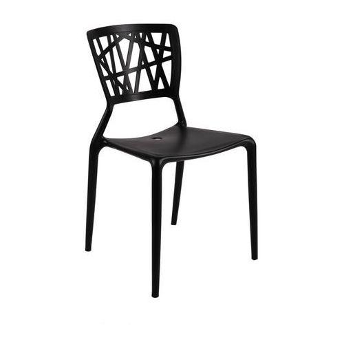 Krzesło Bush inspirowane Viento Chair - czarny, kolor czarny