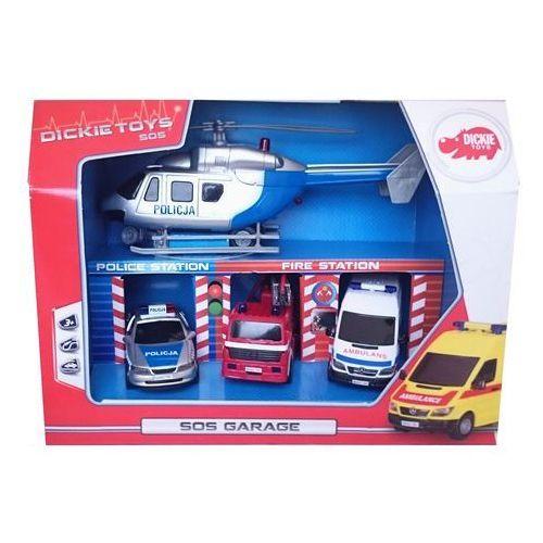 Zestaw pojazdów SOS w garażu, towar z kategorii: Garaże