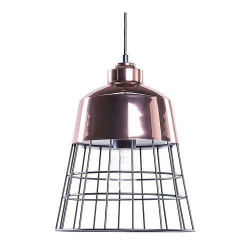 Beliani Lampa miedziana - sufitowa - żyrandol - lampa wisząca - monte