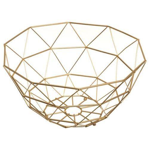Atmosphera créateur d'intérieur Praktyczny kosz, kolor złoty, wykonany z metalu, idealny do przechowywania owoców (3560239701231)