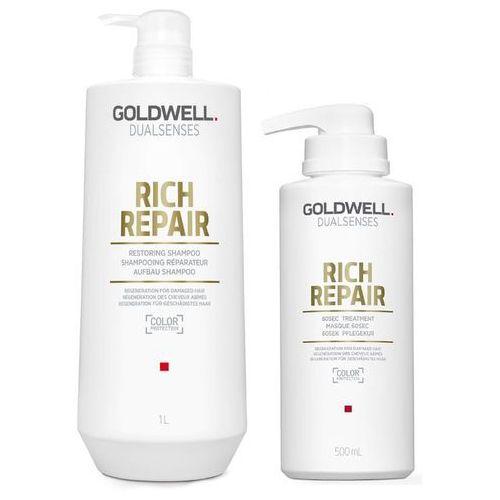 dualsenses rich repair   zestaw regenerujący: szampon 1000ml + maska 500ml marki Goldwell