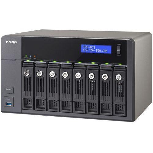 QNAP TVS-871-i3-4G - Intel Core i3 4150 / 4 GB / HDMI / 4 x Gigabit LAN / 8-dyskowy