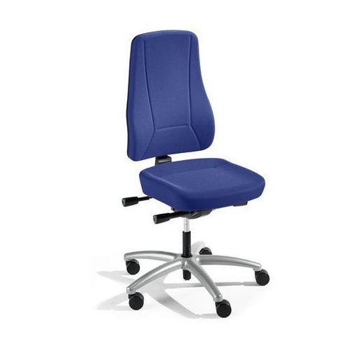 Krzesło obrotowe z podporą lędźwi, mechanizm synchroniczny, siedzisko nieckowe,
