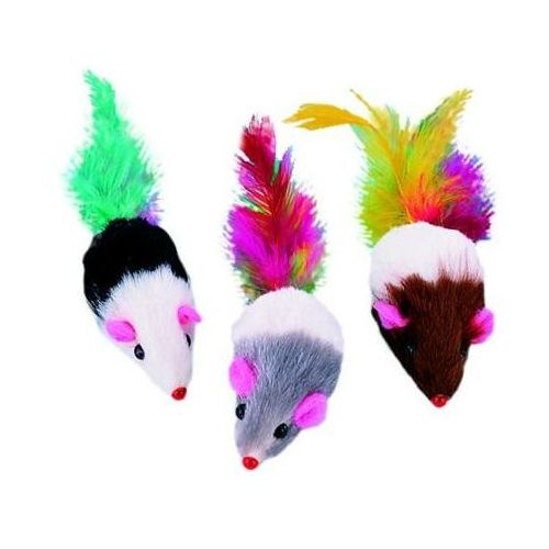 Nobby Mysz długowłosa z piszczałką 7.5 cm nr kat. 80121 - sprawdź w wybranym sklepie