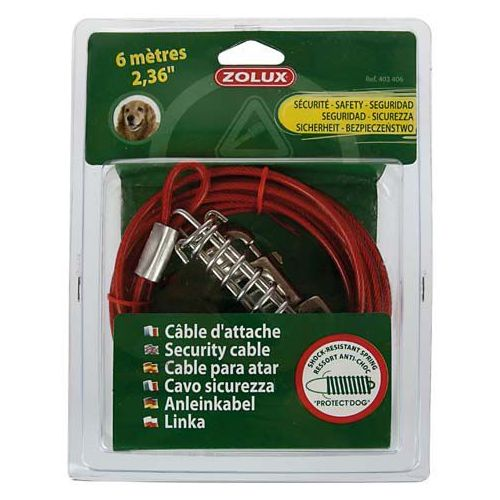 Zolux Linka dla psa z amortyzatorem - 6 metrów