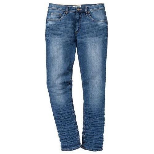 """Dżinsy ze stretchem Slim Fit Tapered bonprix niebieski """"used"""", jeans"""
