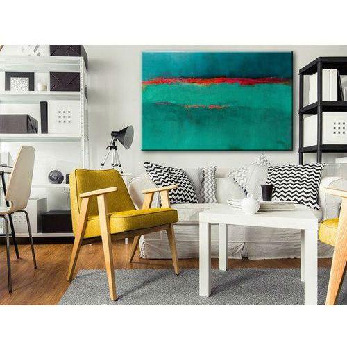 Obraz ręcznie malowany na płótnie galeryjnym SZMARAGDOWY ZACHÓD 70x100cm